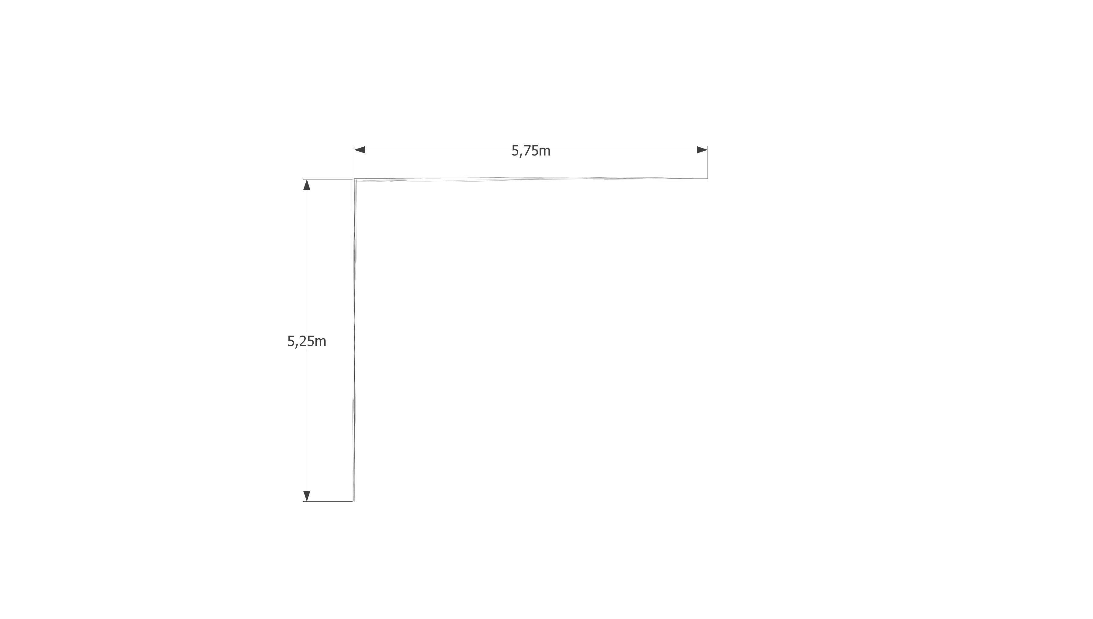 Patiotekt(o)ur - grüner Patio Seitenlänge B: 5,75 m