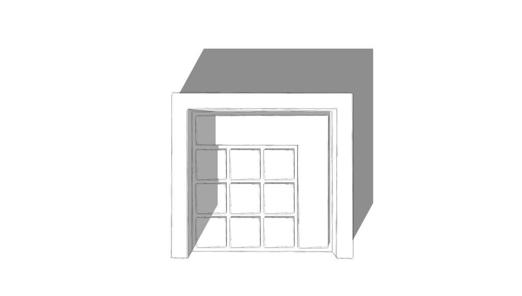 Patio mit Sitzplatz aus Grossformatplatten, Hochbeet mit Cortenstahleinfassung und Heckeneinfriedung