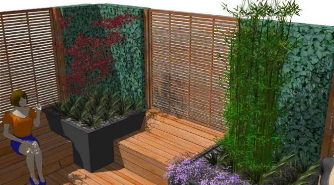 Moderne Sichtschutzelemente aus Holz