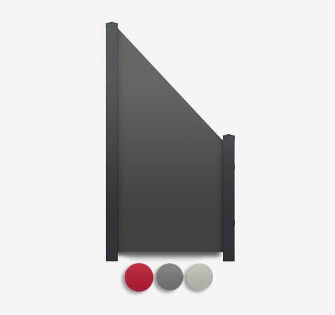 Sichtschutz Terrasse-HPL Element schräg