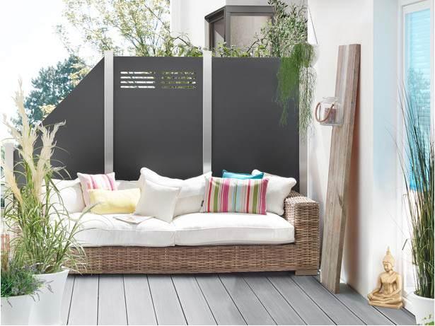 moderner hpl sichtschutz moderner sichtschutz im garten. Black Bedroom Furniture Sets. Home Design Ideas