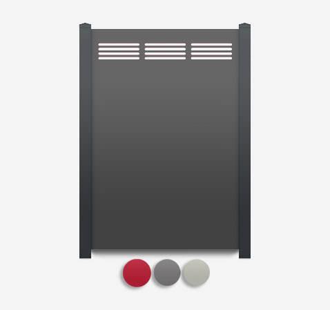 Sichtschutz Terrasse-HPL Element Rankgitter