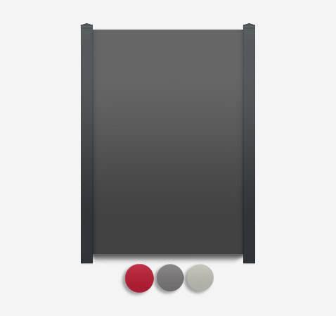 Sichtschutz Terrasse-HPL Element dicht