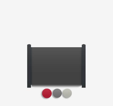 Sichtschutz Terrasse-HPL Element dicht, Grau/Rot